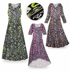 FINAL CLEARANCE SALE! Safari Slinky Print Plus Size & Supersize Dresses  1x 2x