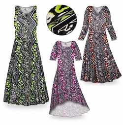 SOLD OUT! Safari Slinky Print Plus Size & Supersize Dresses