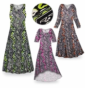 SALE! CLEARANCE! Safari Slinky Print Plus Size & Supersize Dresses  2x