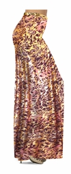 SOLD OUT! SALE! Salmon Red Ornate With Gold Metallic Slinky Plus Size & Supersize Palazzo Pants! 4x
