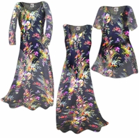 SOLD OUT! SALE! Semi-Sheer Black Floral Print Ribbed Crepe Plus Size Coverup Dress 0x
