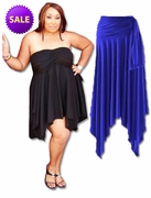 SOLD OUT! CLEARANCE! Sexy Slinky & Cotton Handkerchief  High-Low Dresses Tops & Skirts! Plus Size & Supersize 2x