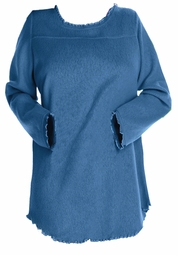 SOLD OUT! SALE! Pretty Blue Sherpa Tail Plus Size Tunic Top 3x