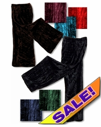 CLEARANCE! Shimmering Crush Panne Velvet Petite or Tall Customizable Plus Size & Supersize Tapered Pants 0x 2x 3x 4x