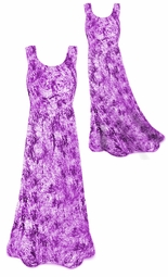 SOLD OUT! Shimmering Tie Dye Purple Crush Velvet Plus Size & SuperSize Princess Cut Tank Dress 0x to 8x