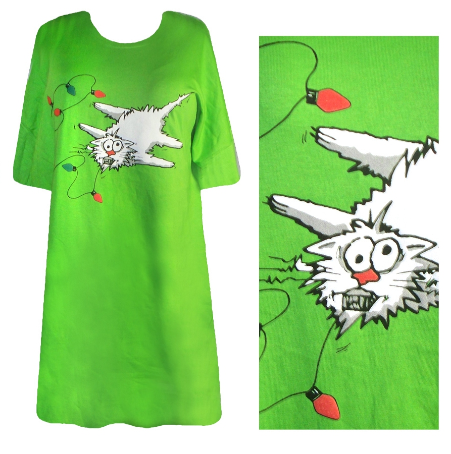 Sale Shocking Xmas Kitty Plus Size Supersize T Shirts