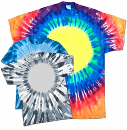 SALE! Short Sleeve Circle Tie Dye Plus Size & Supersize X-Long T-Shirt 0x 1x 2x 3x 4x 5x 6x 7x 8x
