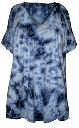 SOLD OUT! SALE! Short Sleeve V Neck Tie Dye Plus Size T-Shirt 4XL