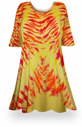 SALE! Solar Flare Tie Dye Plus Size & Supersize X-Long T-Shirt 0x 1x 2x 3x 4x 5x 6x 7x 8x