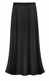 CLEARANCE! Plus Size Solid Black Color Slinky Skirt 1x 2x 5x