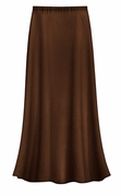 FINAL CLEARANCE SALE! Solid Brown Color Slinky or Ottoman Plus Size Supersize Skirt 2x 4x