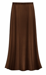 CLEARANCE! Solid Brown Color Slinky Plus Size Supersize Skirt 3x 4x 6x