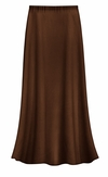 CLEARANCE! Solid Brown Color Slinky or Ottoman Plus Size Supersize Skirt 2x 4x