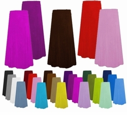 SOLD OUT! SALE! Solid Color Slinky - Spandex - Poly/Cotton Jersey Plus Size & Supersize Skirts 0x 1x 2x 3x 4x