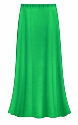 CLEARANCE! Solid Grass Green Color Slinky Plus Size Supersize Skirt 0x