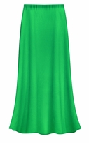 CLEARANCE! Solid Grass Green Color Slinky Plus Size Supersize Skirt 0x 4x