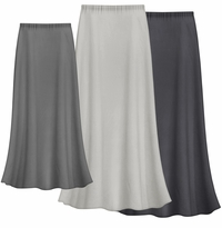 CLEARANCE! Solid Gray Color Slinky Plus Size Supersize Skirt LG XL 1x 2x