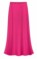 SOLD OUT! CLEARANCE! Solid Hot Pink Color Slinky Plus Size Supersize Skirt 2x