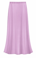 CLEARANCE! Solid Lavender Color Slinky Plus Size Supersize Skirt 4x