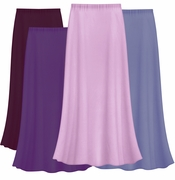 FINAL CLEARANCE SALE! Solid Purples & Lavender Color Slinky Plus Size Supersize Skirt 2x 4x