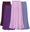 CLEARANCE! Solid Purples & Lavender Color Slinky Plus Size Supersize Skirt 2x