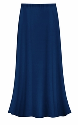 FINAL CLEARANCE SALE! Plus Size Solid Navy Color Slinky Skirt 0x 1x 2x