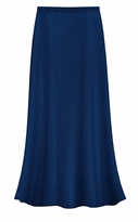 CLEARANCE! Solid Navy Color Slinky Plus Size Supersize Skirt LG 3x