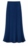 CLEARANCE! Plus Size Solid Navy Color Slinky Skirt 0x 1x 3x 5x