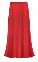 SOLD OUT! CLEARANCE! Solid Red Color Slinky Plus Size Supersize Skirt 4x