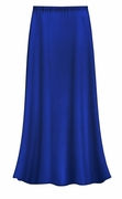 SOLD OUT! CLEARANCE! Solid Royal Blue Color Slinky Plus Size Supersize Skirt 1x
