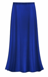CLEARANCE! Solid Royal Blue Color Slinky Plus Size Supersize Skirt 4x
