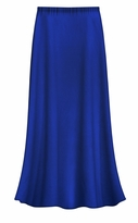 CLEARANCE! Solid Royal Blue Color Slinky Plus Size Supersize Skirt 1x