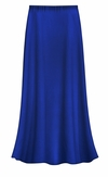 SOLD OUT! CLEARANCE! Solid Royal Blue Color Slinky Plus Size Supersize Skirt 1x 3x