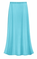 CLEARANCE! Solid Turquoise Color Slinky Plus Size Supersize Skirt 1x