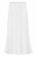 CLEARANCE! Solid White Color Slinky Plus Size Supersize Skirt 1x 4x