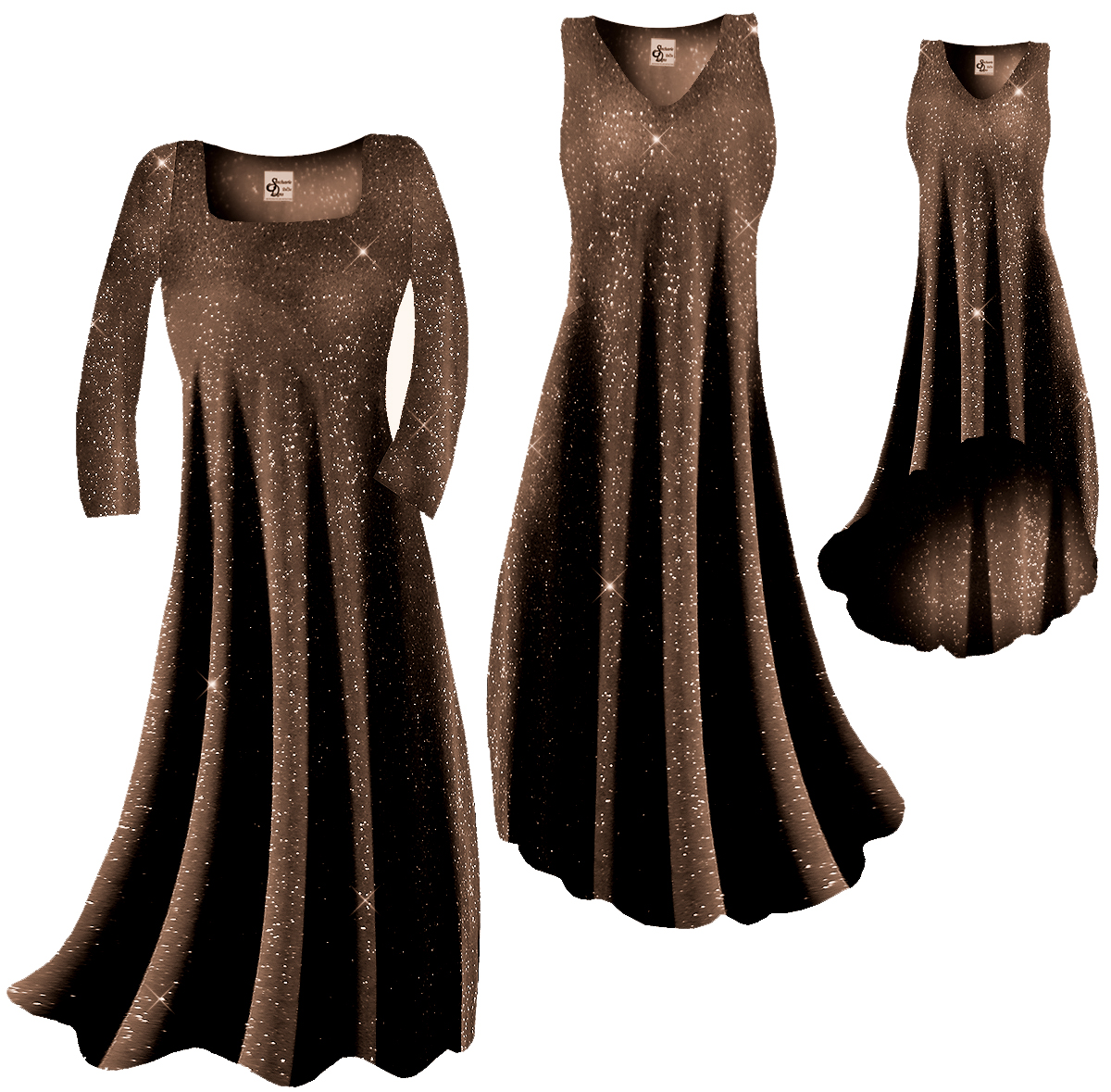 SOLD OUT! CLEARANCE! Sparkly Copper Gold Glitter Slinky Plus Size ...