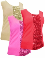 SOLD OUT! SALE! Sparkly Plus Size Sequin Tank Tops Red - Ivory - Hot Pink - Gray - 2x 3x