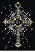 SALE! Sparkly Rhinestud Rhinestone Silver & Gold Cross Plus Size & Supersize T-Shirts S M L XL 2x 3x 4x 5x 6x 7x 8x 9x (All Colors)