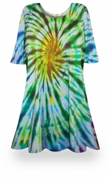 SALE! Spring Meadows Tie Dye Plus Size & Supersize X-Long T-Shirt 0x to 8x