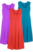 SOLD OUT! SALE! Grape, Strawberry or Turquoise Plus Size Tank Mid Length Dress 4x 5x
