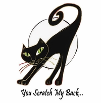 SALE! You Scratch my Back Black Cat Plus Size & Supersize T-Shirts S M L XL 2x 3x 4x 5x 6x 7x 8x  (Lights Only)