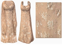 SOLD OUT! SALE! Stunning Beige & Silver Lace 2 Piece Plus Size SuperSize Princess Seam Dress Set 4x