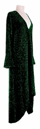 CLEARANCE Stunning Green & Black Glimmer Plus Size & Supersize Dress  0X