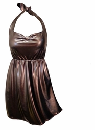 SOLD OUT! SALE! Metallic Brown Mocha Summer Plus Size Halter Top! 0x