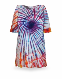 SOLD OUT! CLEARANCE! Sun Rays Swirl Tie Dye Plus Size T-Shirt  2xl