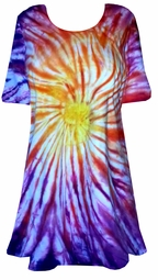SALE! Sunset Swirl Tie Dye Plus Size & Supersize X-Long T-Shirt 1x 2x 3x 4x 5x 6x 7x 8x