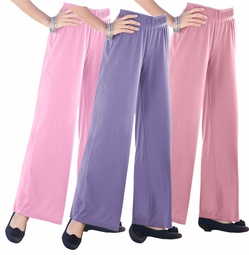SALE! Sweet Grape, Berry Mauve, or Orchid Pink Wide Leg Knit Plus Size Pants 6x