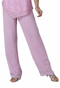 SALE! Sweet Tulip Pink Georgette Plus Size Pants 2x/30 4x/34