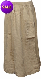 SOLD OUT! SALE! Tan Demin Skirt with Pocket Plus Size 3x