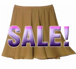 SOLD OUT! FINAL SALE! Tan Plus Size Georgette Full Skirt 34w 4x